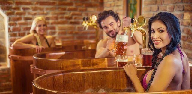 Spas de cerveja para relaxar
