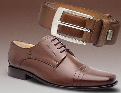 Sapato combinando com cinto