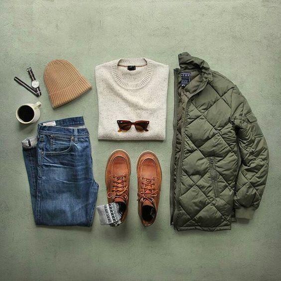 10 ideias de combinações de roupas masculinas para o frio