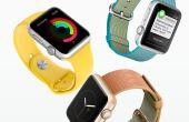 Os relógios estão sendo oferecidos em dois tamanhos com diversas pulseiras intercambiáveis