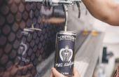 Você pode levar as cervejas para casa em latas de 1L