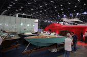 Alguns barcos no estilo mais retrô também marcaram presença na Boat Show Sp 2017