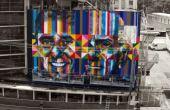 O grafiteiro Eduardo Kobra, é um dos maiores grafiteiros do mundo, e o mestre por trás de obras como: Chico e Ariano (foto)