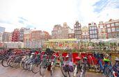 """Amsterdam, na Holanda, é conhecida mundialmente como a """"cidade das bicicletas"""""""