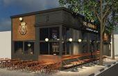 Esta será a fachada do pub do Corinthians, que inaugurará na Faria Lima no dia 23 de abril