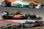 Essa não é a primeira troca de cor feita no carro da Force India