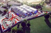 O kartódromo ocupa uma área de aproximadamente 26 mil m²